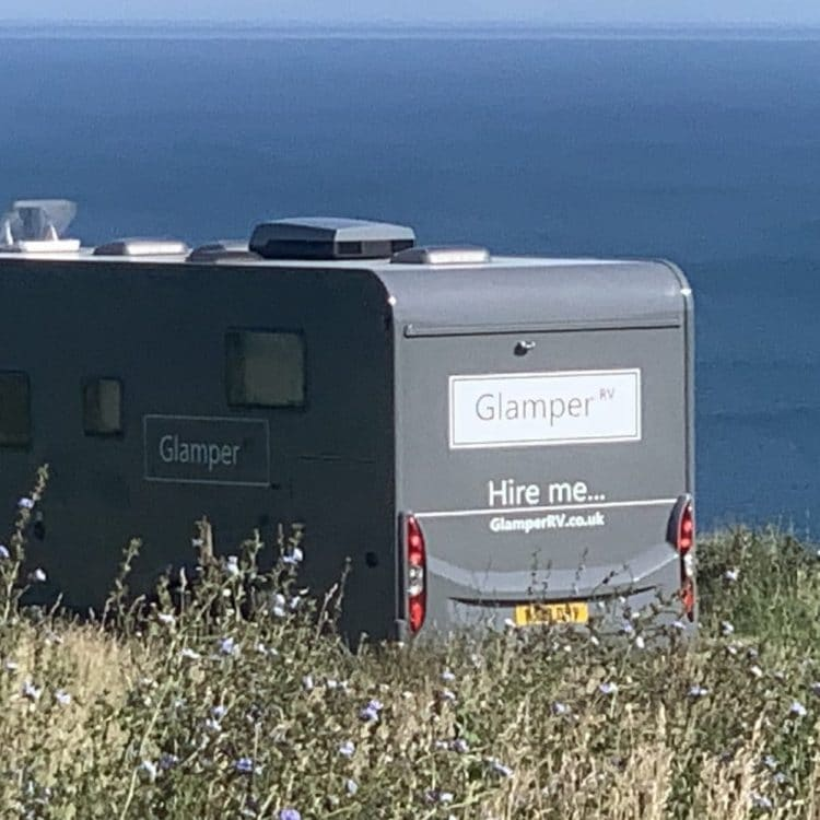 GlamperRV luxury motorhome hire - Pitch with a view