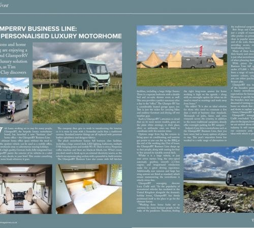 Waterfrong magazine features GlamperRV